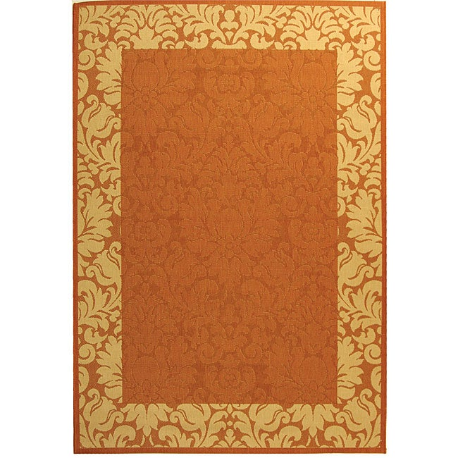 Safavieh Indoor/ Outdoor Kaii Terracotta/ Natural Rug (2'7 x 5')