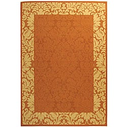 Indoor/ Outdoor Kaii Terracotta/ Natural Rug (6'7 x 9'6)