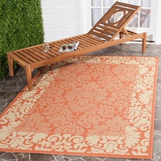 Safavieh Indoor/ Outdoor Kaii Terracotta/ Natural Rug (6'7 x 9'6)