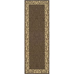 Indoor/ Outdoor Kaii Chocolate/ Natural Runner (2'4 x 6'7)