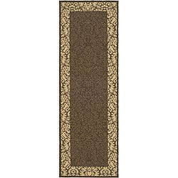 Safavieh Indoor/ Outdoor Kaii Chocolate/ Natural Runner (2'4 x 6'7)