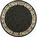 Indoor/ Outdoor Kaii Black/ Sand Rug (6'7 Round)