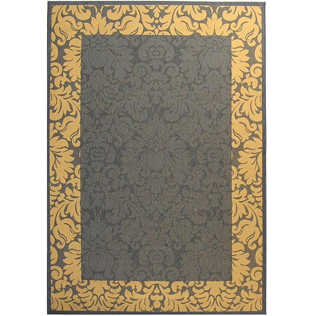 Safavieh Indoor/ Outdoor Kaii Blue/ Natural Rug (7'10' x 11')