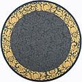 Indoor/ Outdoor Kaii Blue/ Natural Rug (6'7 Round)