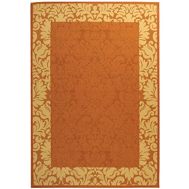 Safavieh Indoor/ Outdoor Kaii Terracotta/ Natural Rug (4' x 5'7) at Sears.com
