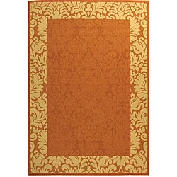 Indoor/ Outdoor Kaii Terracotta/ Natural Rug (7'10 x 11')
