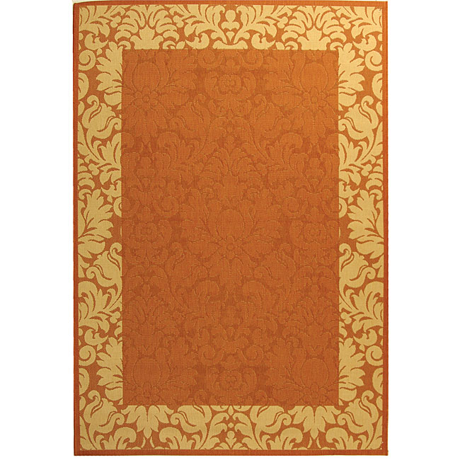Safavieh Indoor Outdoor Kaii Terracotta Natural Rug 9
