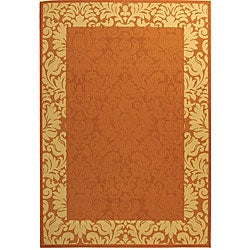 Safavieh Indoor/ Outdoor Kaii Terracotta/ Natural Rug (9' x 12')