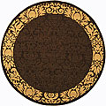 Indoor/ Outdoor Kaii Chocolate/ Natural Rug (6'7 Round)