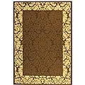 Safavieh Indoor/ Outdoor Kaii Chocolate/ Natural Rug (6'7 x 9'6)