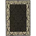 Safavieh Indoor/ Outdoor Kaii Black/ Sand Rug (4' x 5'7)