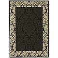 Indoor/ Outdoor Kaii Black/ Sand Rug (7'10' x 11')