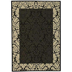 Indoor/ Outdoor Kaii Black/ Sand Rug (9' x 12')