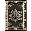 Indoor/ Outdoor Sunny Black/ Sand Rug (9' x 12')