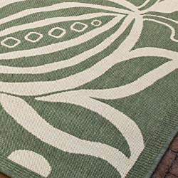Safavieh Indoor/ Outdoor Andros Olive/ Natural Rug (9' x 12')