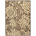 Indoor/ Outdoor Andros Brown/ Natural Rug (4' x 5'7)