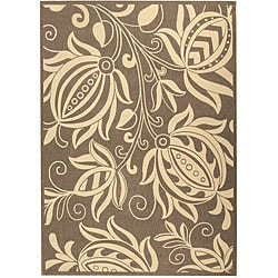 Safavieh Indoor/ Outdoor Andros Brown/ Natural Rug (6'7 x 9'6)