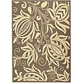 Indoor/ Outdoor Andros Brown/ Natural Rug (6'7 x 9'6)