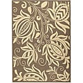 Indoor/ Outdoor Andros Brown/ Natural Rug (9' x 12')