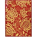 Safavieh Indoor/ Outdoor Andros Red/ Natural Rug (9' x 12')