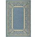 Indoor/ Outdoor Abaco Blue/ Natural Rug (9' x 12')