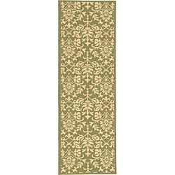 Safavieh Indoor/ Outdoor Seaview Olive/ Natural Runner (2'4 x 6'7)
