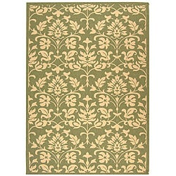 Indoor/ Outdoor Seaview Olive/ Natural Rug (4' x 5'7)