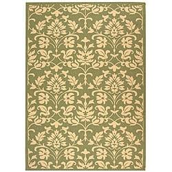 Indoor/ Outdoor Seaview Olive/ Natural Rug (5'3 x 7'7)