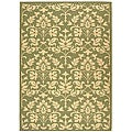 Indoor/ Outdoor Seaview Olive/ Natural Rug (5'3 x 7'7)
