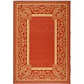 Safavieh Indoor/ Outdoor Abaco Red/ Natural Rug (9' x 12')