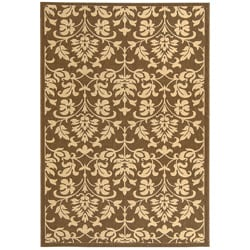Safavieh Indoor/ Outdoor Seaview Chocolate/ Natural Rug (2'7 x 5')