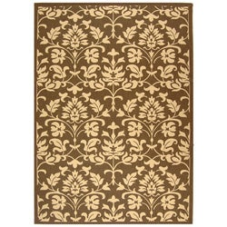 Indoor/ Outdoor Seaview Chocolate/ Natural Rug (7'10' x 11')