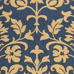 Safavieh Indoor/ Outdoor Seaview Natural/ Blue Rug (7'10' x 11')