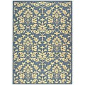 Indoor/ Outdoor Seaview Natural/ Blue Rug (7'10' x 11')