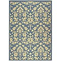 Safavieh Indoor/ Outdoor Seaview Natural/ Blue Rug (7'10' x 11')