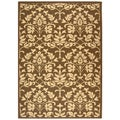 Indoor/ Outdoor Seaview Chocolate/ Natural Rug (4' x 5'7)