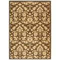 Indoor/ Outdoor Seaview Chocolate/ Natural Rug (5'3 x 7'7)