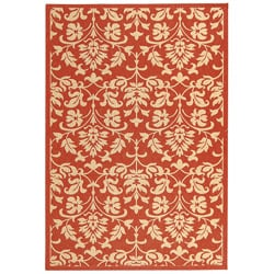 Safavieh Indoor/ Outdoor Seaview Red/ Natural Rug (2'7 x 5')