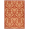 Indoor/ Outdoor Seaview Red/ Natural Rug (5'3 x 7'7)