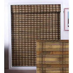 Guinea Deep Bamboo Roman Window Shade (27 in. x 98 in.)
