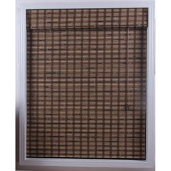 Guinea Deep Bamboo Roman Window Shade (29 in. x 98 in.)