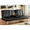 Furniture of America Yorkville Modern Bicast Leather Sofa/ Sofabed with Drop-down Tray