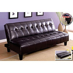 Furniture of America Aille Bicast Leather Sofa/ Sofabed