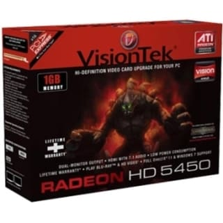 Visiontek 900315 Radeon 5450 Graphic Card - 1 GB DDR3 SDRAM - PCI Exp