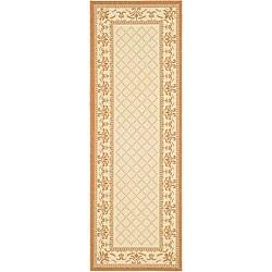 Safavieh Indoor/ Outdoor Royal Natural/ Terracotta Runner (2'4 x 9'11)