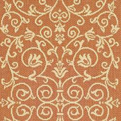 Indoor/ Outdoor Resorts Terracotta/ Natural Runner (2'4 x 9'11)