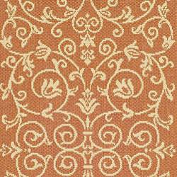 Safavieh Indoor/ Outdoor Resorts Terracotta/ Natural Runner (2'4 x 9'11)
