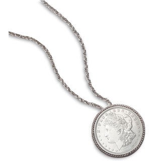 American Coin Treasures Morgan Silver Dollar Pin/ Pendant