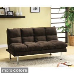 Furniture of America Willow Beige Microfiber Sofa/ Futon