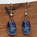 Silver Blue Glass Drop Earrings (Chile)
